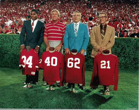 UGA Football Retired Jerseys 8 x 10 Photo