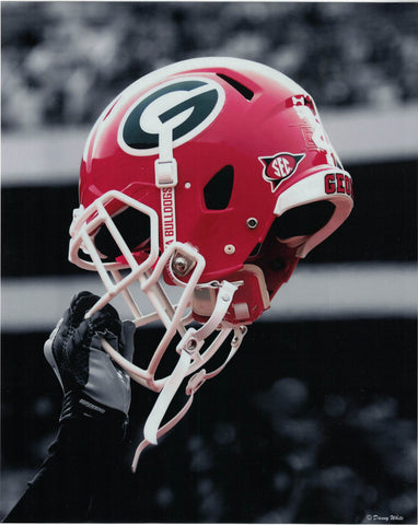 UGA Football Helmete 8 x 10 Photo