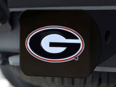 Georgia Bulldogs Red and Black Chrome Oval G Hitch Cover