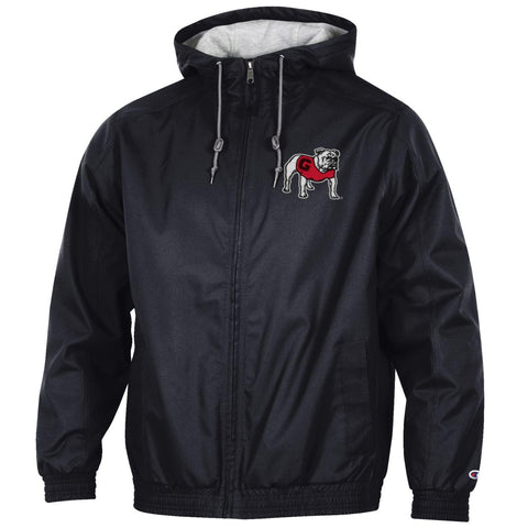 UGA Champion Full Zip Victory Jacket - Black