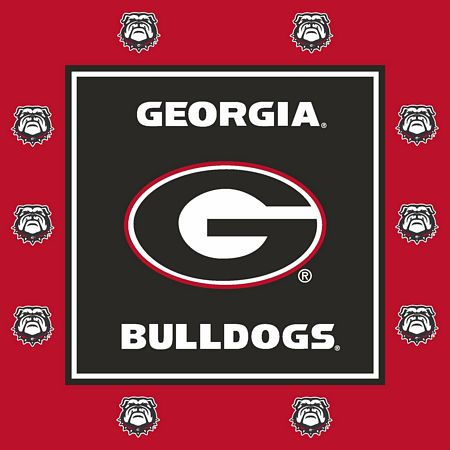 UGA Bulldogs Tailgate Party Luncheon Napkins