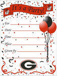 UGA Georgia Bulldogs Party Invitations