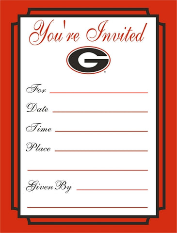 UGA Party Invitations