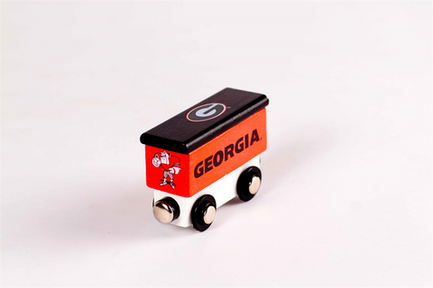 UGA Georgia Bulldogs Wooden Train Toy Boxcar