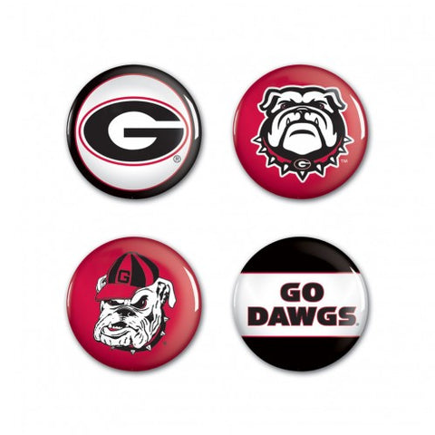 UGA Georgia Bulldogs Pin-Back 4 Button Set