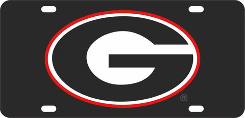 UGA Georgia Oval G Car Tag - Black