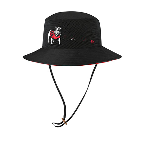 UGA Georgia Bulldogs 47 Brand Bucket Hat - Black