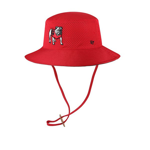 UGA Georgia Bulldogs 47 Brand Standing Bulldog Bucket Hat - Red