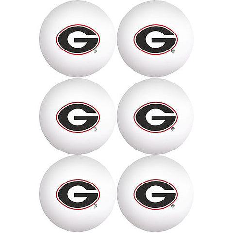 UGA Georgia Bulldogs 6 Ping Pong Ball Set