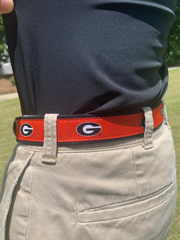 UGA Men's Cloth Belt - Red