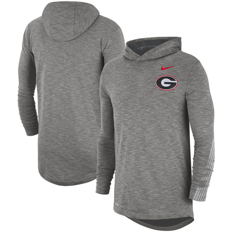UGA Georgia Bulldogs Nike Sideline Performance Long Sleeve Pullover - Gray