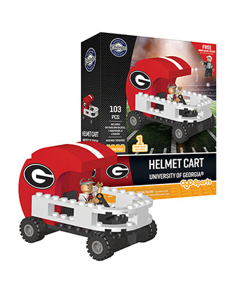 UGA Georgia Bulldogs Toy Helmet Cart by Oyo Sports