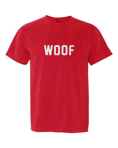 Woof Comfort Colors T-Shirt - Red