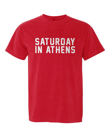 Saturday in Athens Comfort Colors T-Shirt - Red