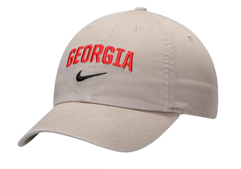 UGA Georgia Bulldogs Nike Cotton Arched Georgia Cap - Khaki