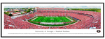 UGA Panoramic Framed Poster Print - Georgia vs. Tennessee 2018