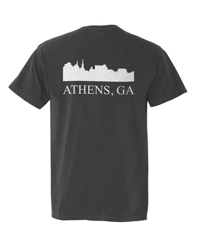 Athens, Georgia Comfort Colors Skyline T-Shirt - Pepper