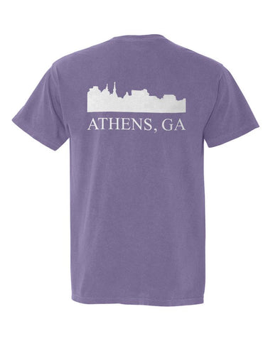 Athens, Georgia Comfort Colors Skyline T-Shirt - Purple