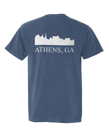 Athens, Georgia Comfort Colors Skyline T-Shirt - Midnight Blue