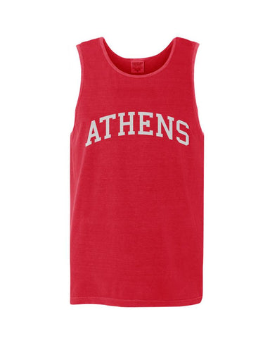 Athens, Georgia Comfort Colors Tank - Red