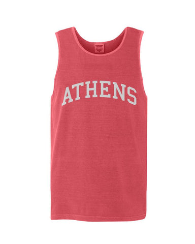 Athens, Georgia Comfort Colors Tank - Watermelon
