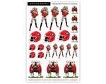 UGA Georgia Bulldogs 23 Count Sticker Sheet