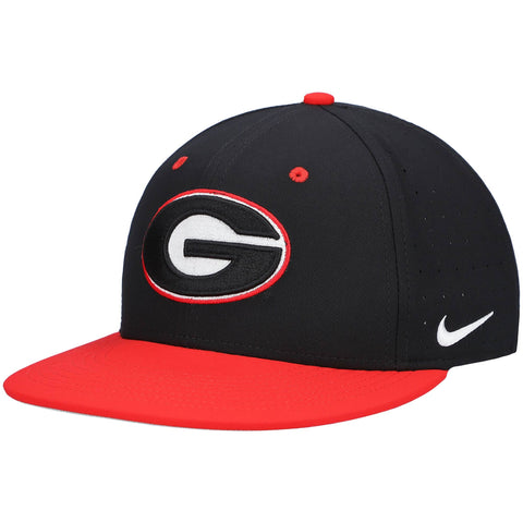 UGA Nike Fitted Baseball Cap - Black