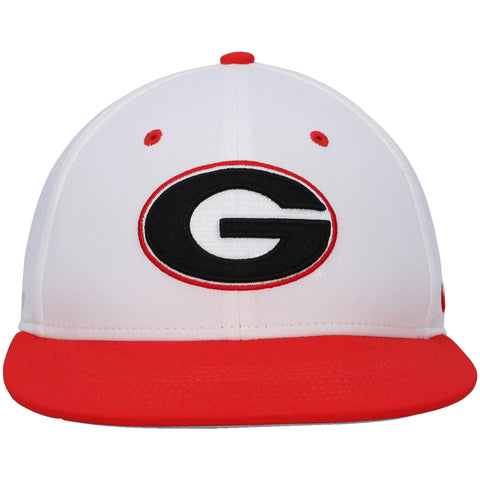 UGA Nike Fitted Baseball Cap - White