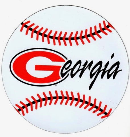 UGA Georgia Bulldogs Small Baseball/Softball Car Magnet