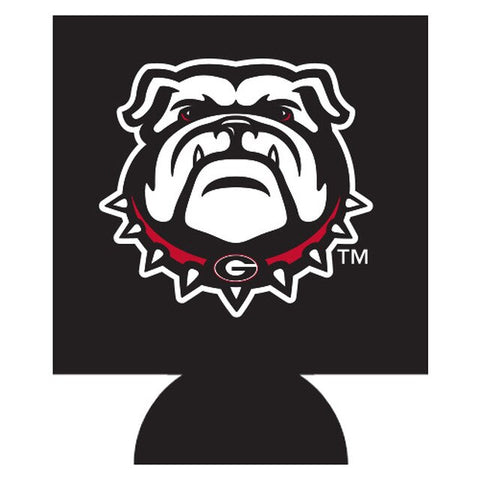 UGA New Bulldog Head Double-Sided Can Cooler