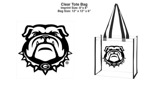 UGA Georgia Bulldogs Clear Stadium Tote Bag