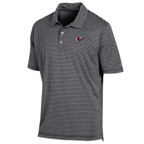 UGA Georgia Bulldogs Champion Standing Bulldog Striped Polo - Black