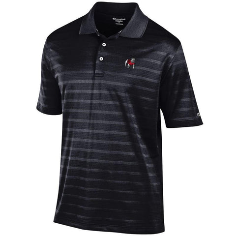 UGA Champion Striped Polo - Black