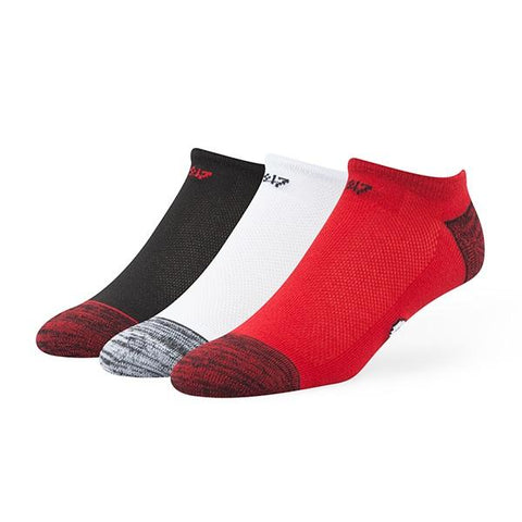 UGA Georgia Bulldogs 47 Brand 3 Pack No-Show Socks - Red, White, & Black