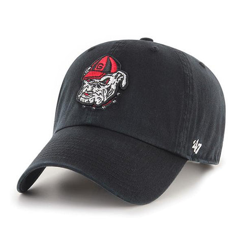 UGA Georgia Bulldogs 47 Brand Adjustable Old Bulldog Head Cap - Black