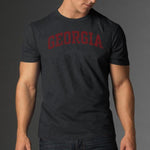 UGA Georgia Bulldogs 47 Brand Arched GEORGIA T-Shirt - Charcoal