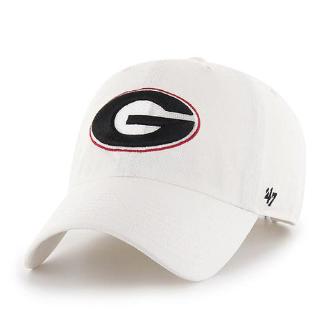 UGA Georgia Bulldogs 47 Brand Classic Oval G Adjustable Cap - White