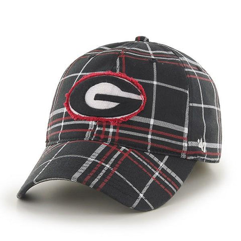 UGA Georgia Bulldogs 47 Brand Flex Fit Oval G Cap-Plaid