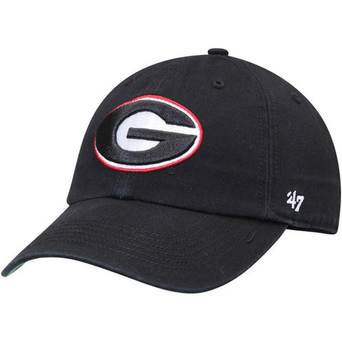 UGA Georgia Bulldogs 47 Brand Fitted Oval G Cap - Black