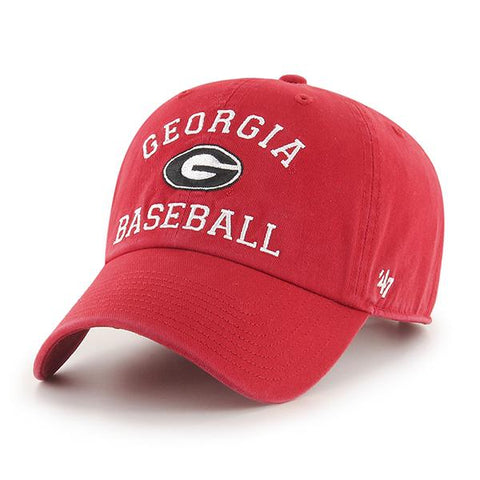UGA Georgia Bulldogs 47 Brand Adjustable Georgia Baseball Cap - Red