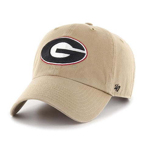UGA Georgia Bulldogs 47 Brand Adjustable Oval G Cap - Khaki