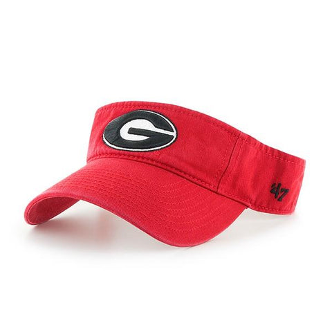 UGA Georgia Bulldogs 47 Brand Oval G Visor - Red
