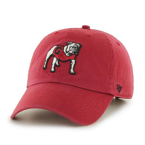 UGA Georgia Bulldogs 47 Brand Adjustable Standing Bulldog Cap - Red