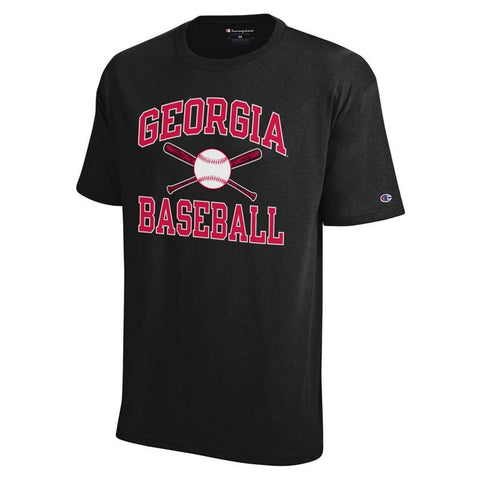 UGA Georgia Bulldogs Champion Baseball T-Shirt - Black