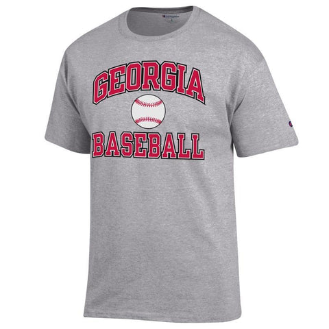 UGA Georgia Bulldogs Champion Baseball T-Shirt - Gray