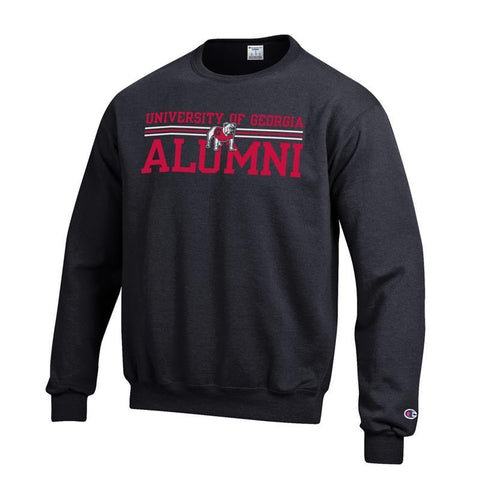 UGA Georgia Bulldogs Champion ALUMNI Sweatshirt - Black