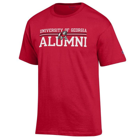 UGA Georgia Bulldogs Champion Alumni T-Shirt - Red