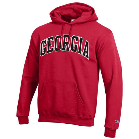 UGA Champion Arched GEORGIA Hoodie - Red