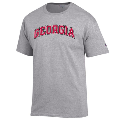UGA Champion Arched GEORGIA T-Shirt - Gray