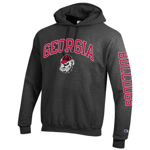 UGA Champion Georgia Bulldogs Sweatshirt Hoodie - Charcoal